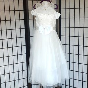 Girl Dress for Party or Communion size 8 white